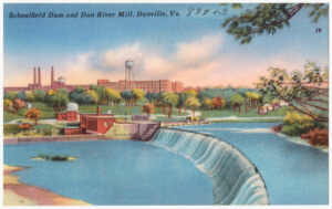 A postcard depicts Danville in its heyday. (Creative Commons License)